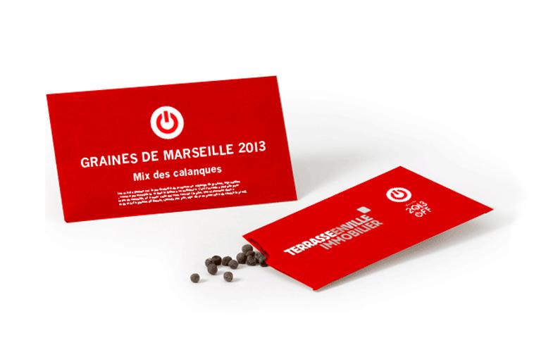 Sachet de graines pour Marseille 2013